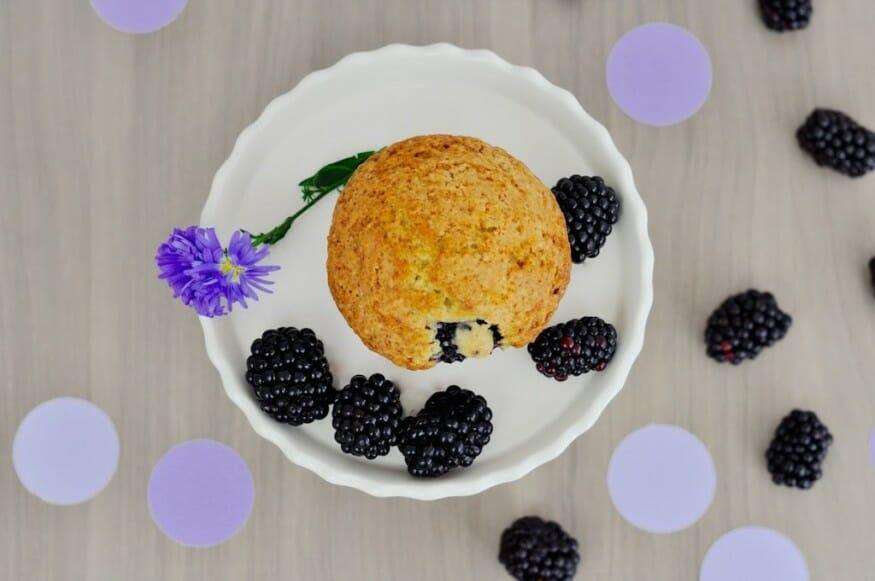 Brombeere Muffin's mit Pünktchen