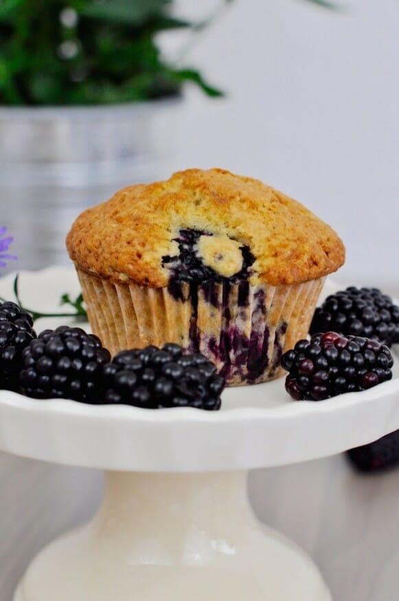 Saftiger Brombeere Muffin