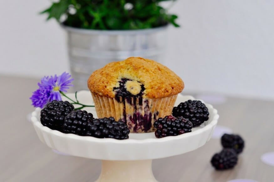 Brombeere im Muffin