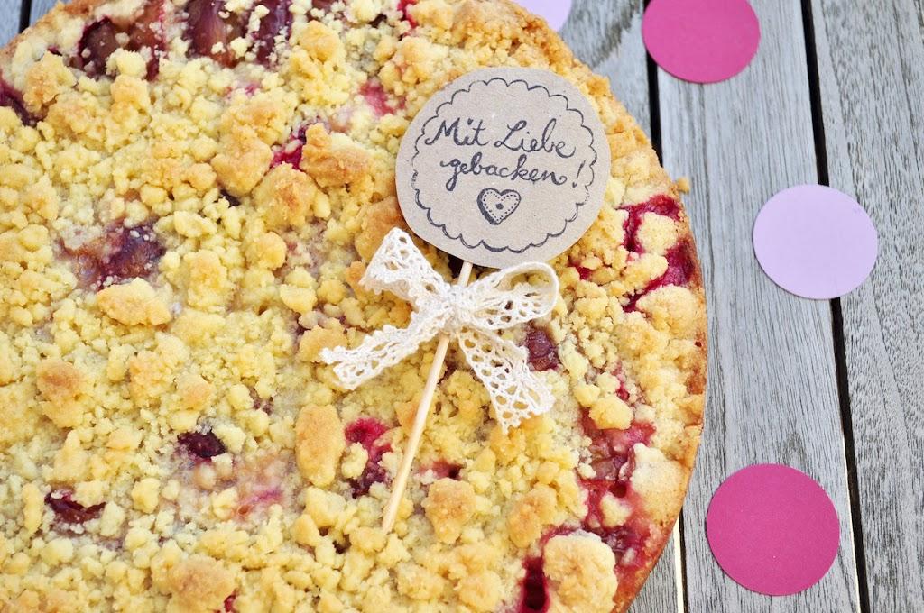 Infos zum Leckereren Pflaumenkuchen, der mit Liebe gebacken ist