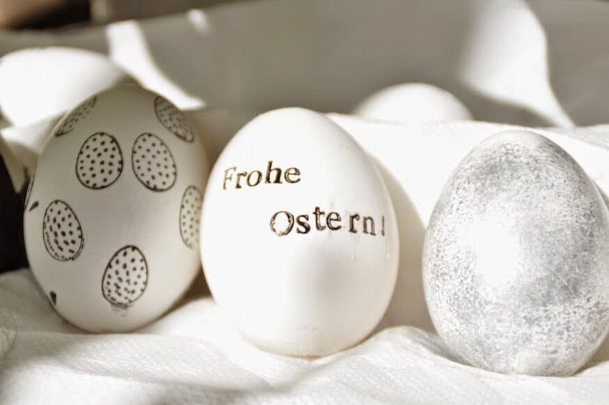 Oster Eier - kreativ gestaltet mit Stempel, Waschi-Tape und Farbe