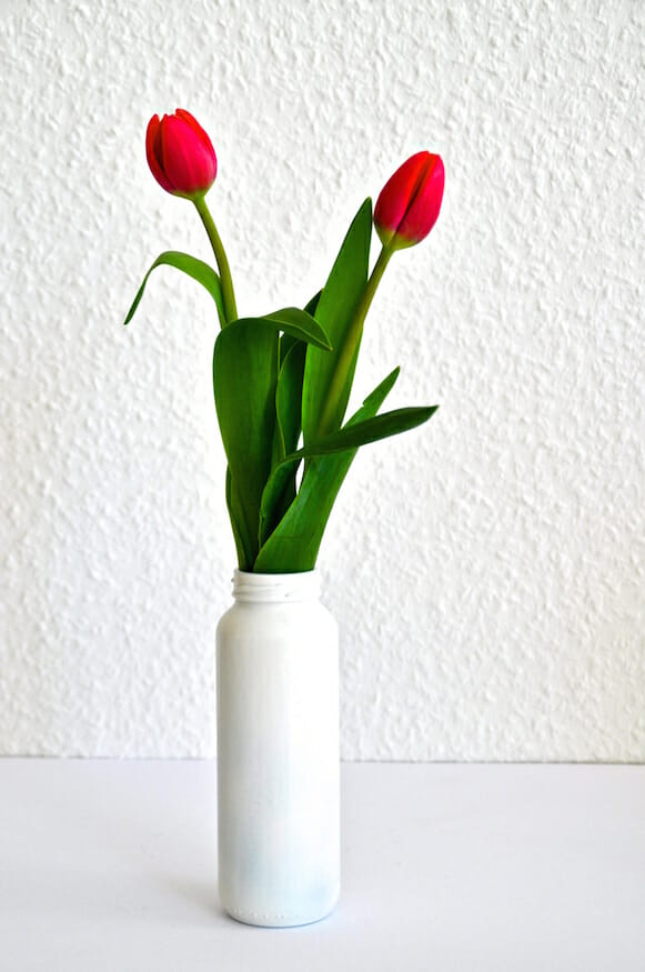 Smoothieflasche = Vase-Do It Yourself