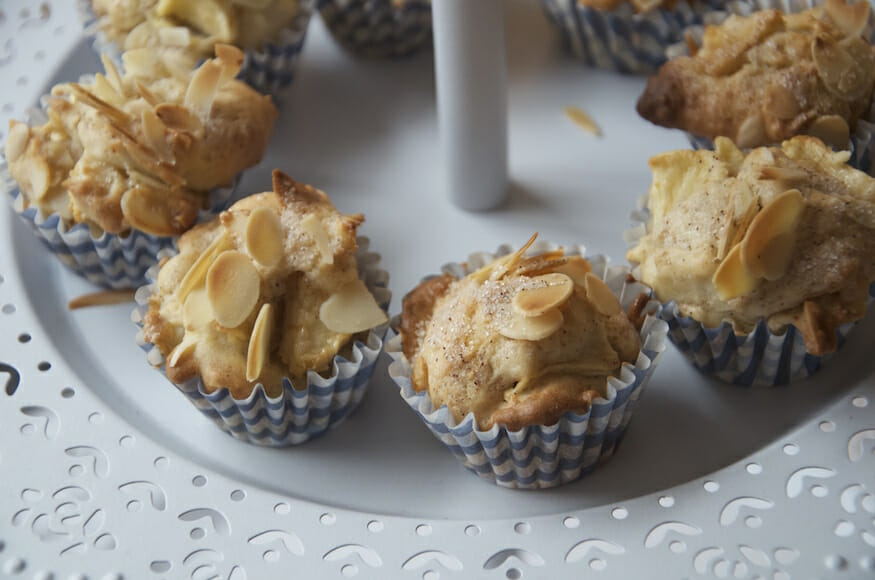 Apfel Muffins - Rezept mit Zimt und Mandel