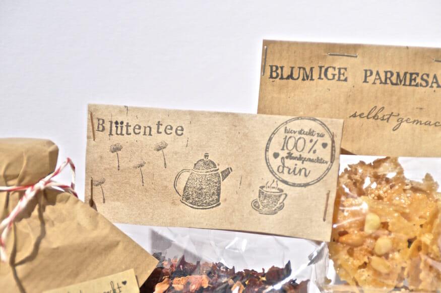 Schokokuss und Zuckergruß - Tauschpaket zum Thema Frühlingserwachen und Blütenduft