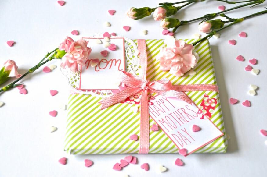 Vorlagen für die Geschenkverpackung zum Muttertag
