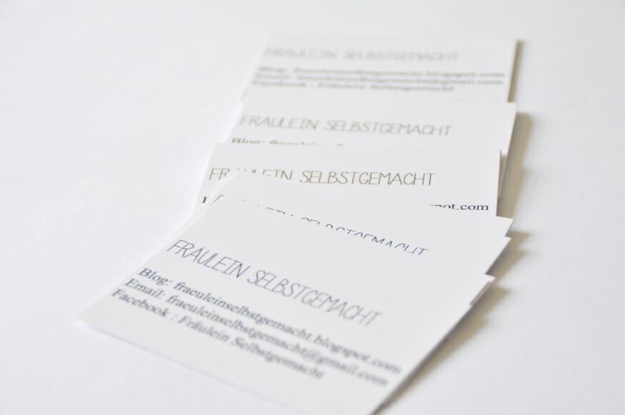 Einfaches Do It Yourself zum Visitenkarten Nähen