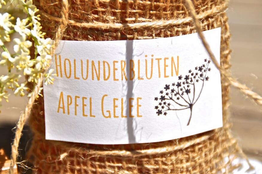 Holunderblüten Gelee mit Apfel